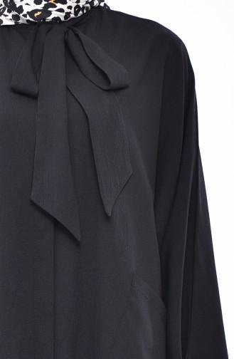 Tie Collar Flywheel Tunic 5003-01 Black 5003-01
