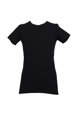 Body Manches Courtes Pour Femme 232S Noir 232S