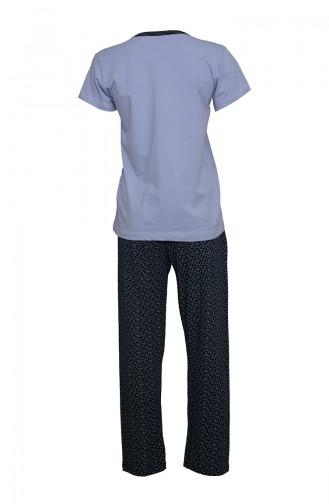 Short Sleeve Women´s Pajama Set  2380 Blue Navy Blue 2380