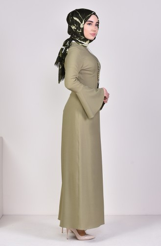Light Khaki Green Dress 2050-09