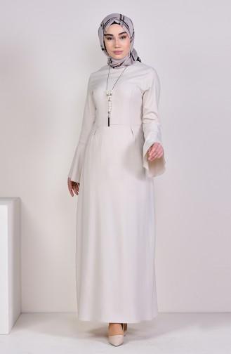 Kleid mit Halskette 2050-12 Grau Weiss 2050-12