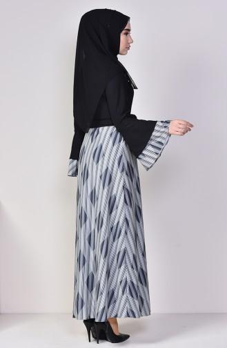 Garnili Elbise 5112-01 Siyah 5112-01