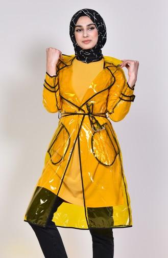 معطف واق من المطر أصفر 12001-04