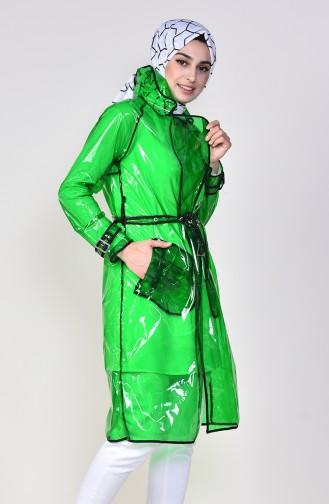 معطف واق من المطر أخضر حشيشي 12001-05
