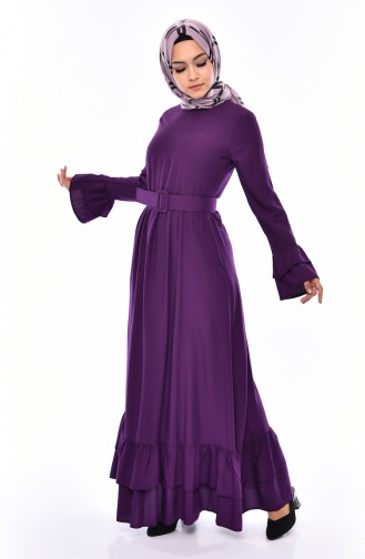 Lila Hijap Kleider 4519-03
