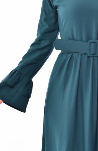 Robe a Froufrous et Ceinture 4519-05 Vert emeraude 4519-05