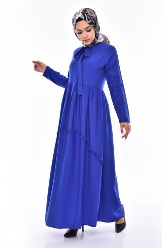 Fırfırlı Elbise 4520-07 Saks 4520-07