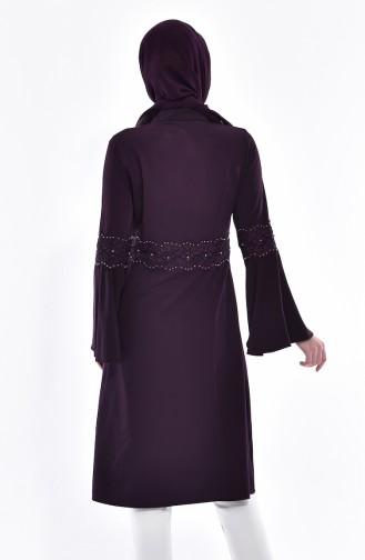 Lace Tunic 1381-01 Dark Purple 1381-01