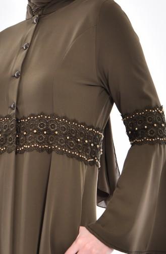Lace Tunic 1381-03 Khaki 1381-03