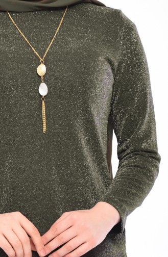 Necklace Tunic Pants Binary Suit 1310-01 Khaki 1310-01