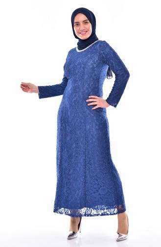 Lace Overlay Evening Dress 2054-05 Saks 2054-05