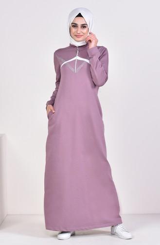 Fermuarlı Spor Elbise 9035-02 Toprak 9035-02