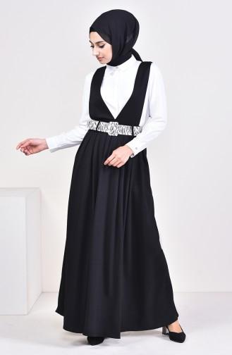 Belt Salopet Gilet Dress 5583-01 Black 5583-01