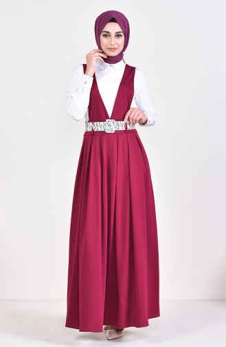 Belt Salopet Gilet Dress 5583-05 Fuchsia 5583-05