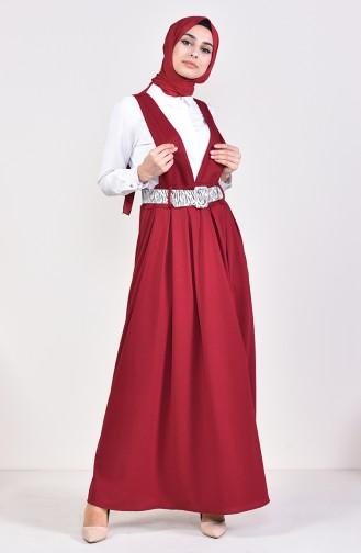 Belt Salopet Gilet Dress 5583-06 Bordeaux 5583-06