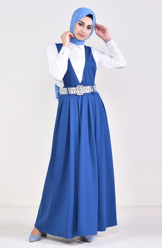 Belt Salopet Gilet Dress 5583-07 İndigo 5583-07