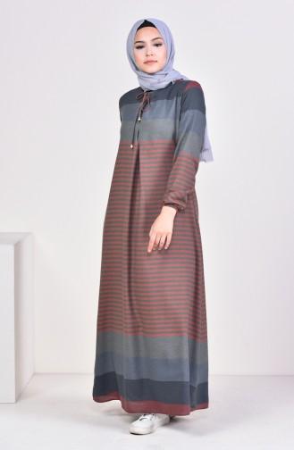 فستان أخضر حشيشي 1010-11