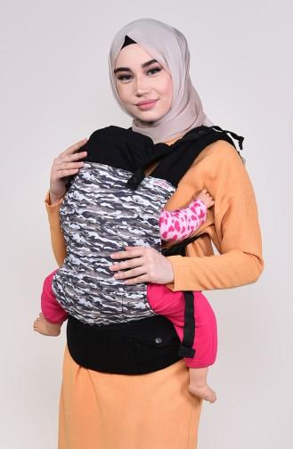 Salopet baby carrier camouflage Msc009 Black 009