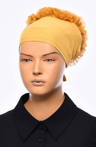Lace Frilly Bonnet 901392-15 Yellow 901392-15