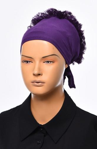 Lace Frilly Bonnet 901392-17 Purple 901392-17