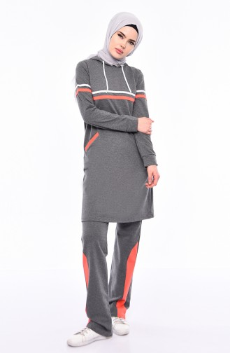 Striped Tracksuit 1421-03 Anthracite 1421-03