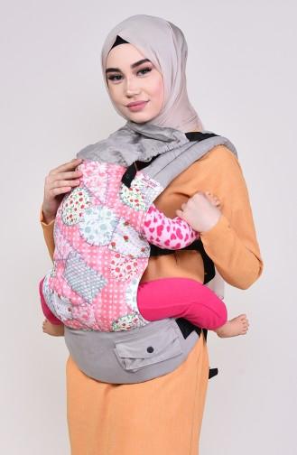 Salopet baby carrier patchwork Msc006 gray 006