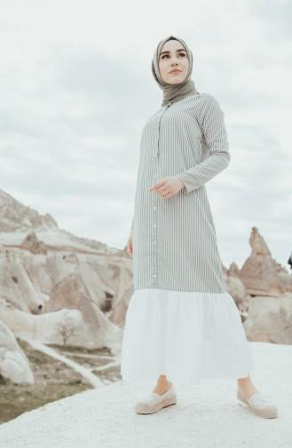 Striped Dress 4405-04 Khaki 4405-04