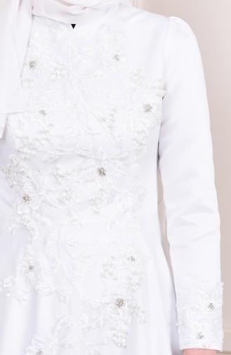 Robe de Soirée Perlées 6156-01 Rouge 6156-03