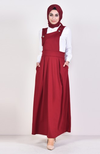 Salopet Gilet Kleid 5514-05 Weinrot 5514-05