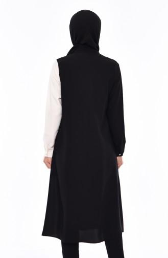 Snaps Long Tunic 1267-01 Black White 1267-01