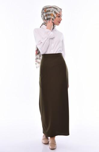 Khaki Skirt 3006-04
