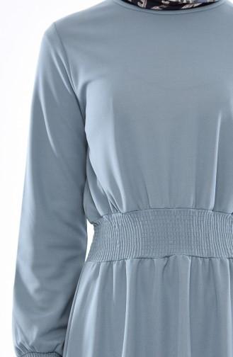 Green Almond Hijab Dress 4008-03