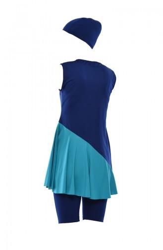 Indigo Swimsuit Hijab 278-02