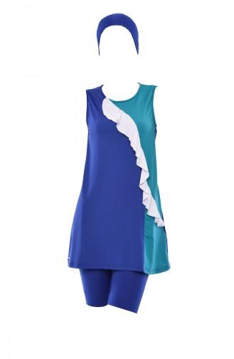 Maillot de Bain Hijab Blue roi 346-01