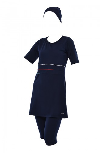 Navy Blue Swimsuit Hijab 388-01