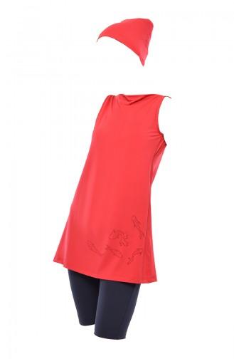 ملابس السباحة برتقالي مائل للحمرة 402-02