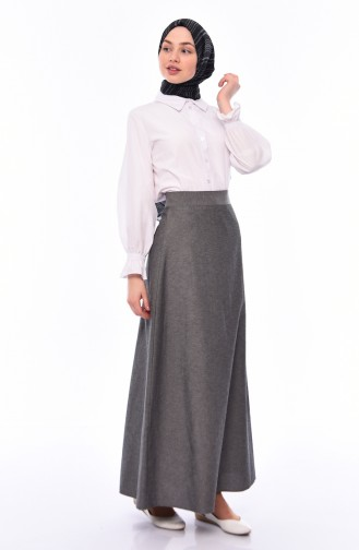 Zippered Skirt 6373-02 Gray Black 6373-02