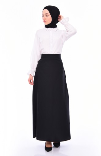 Zippered Skirt 6373-06 Black 6373-06