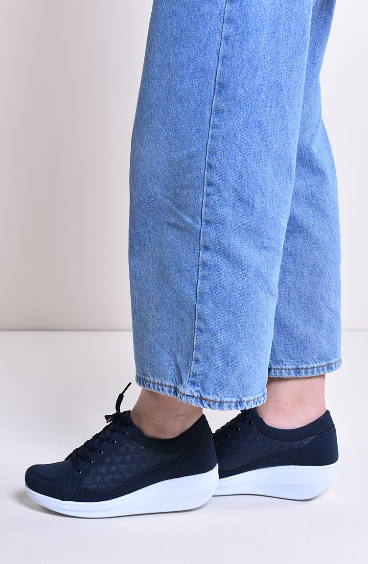 s Shoes 0107 Navy Blue Leather 0107