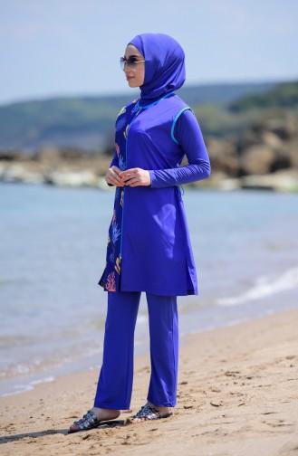 Saxon blue Swimsuit Hijab 286-02