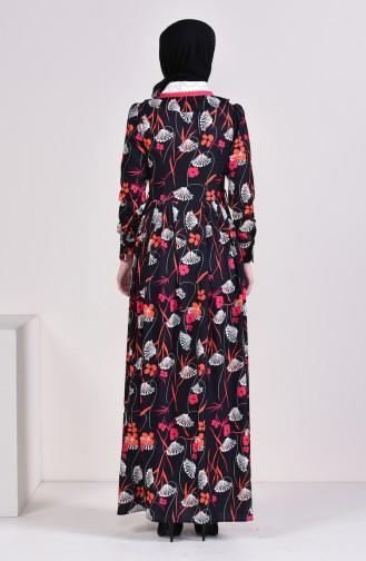 فستان بتصميم مورّد 28334-02 لون أسود 28334-02