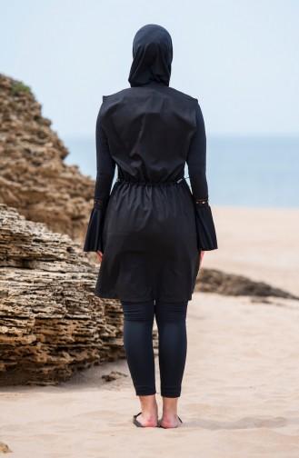 Black Swimsuit Hijab 310-01