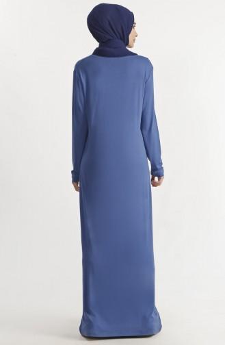 Robe Basic Imprimée de Pierre 1286-01 İndigo 1286-01