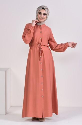 Robe Hijab Couleur brique 8161-03