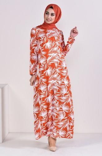 Printed Viscose Dress 6378-01 Tile 6378-01