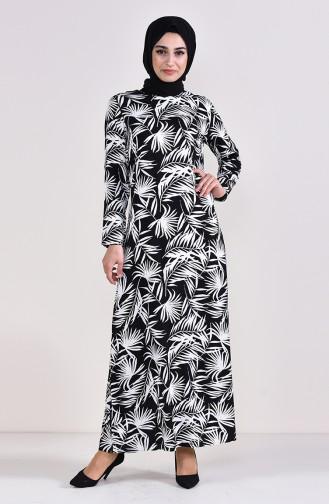 Emprime Viskon Elbise 6378-02 Siyah