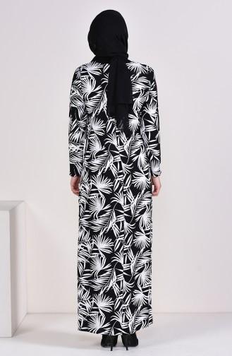 Printed Viscose Dress 6378-02 Black 6378-02