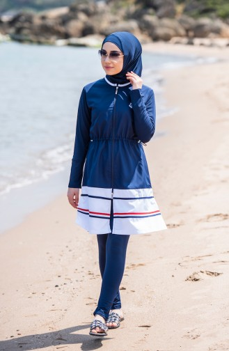 Navy Blue Swimsuit Hijab 1276-01