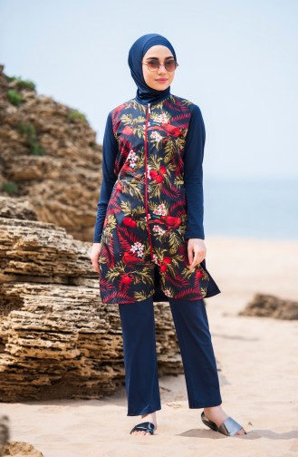 Maillot de Bain Hijab Bleu Marine 281-01