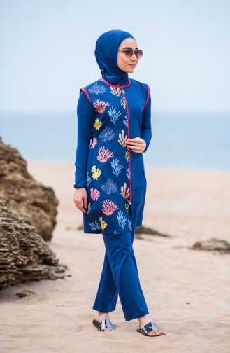 Hijab Swimsuit 286-03 Indigo 286-03